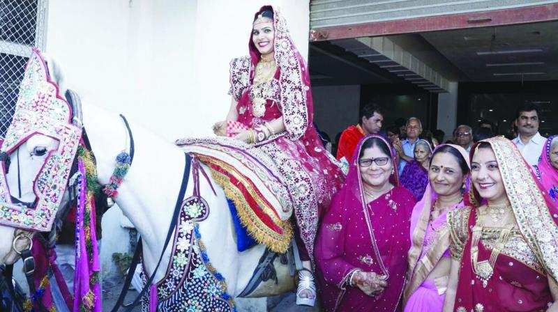 903dfffd2583a Rajasthan  A wedding with a twist — Bride rides a mare