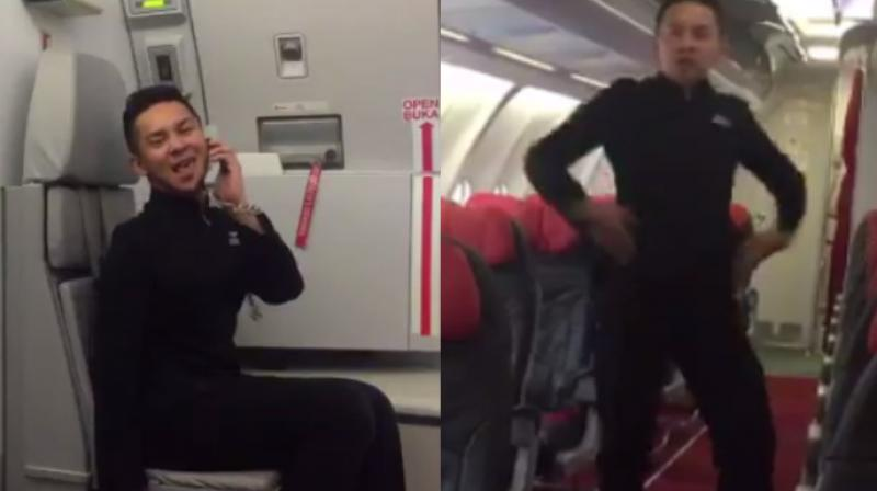 The video was retweeted by Air Asia CEO Tony Fernandes who also praised the staff and their ability at having fun while at work.  (Photo: Twitter/FarhanRzman)
