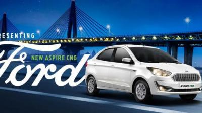 Ford launches CNG variants of Aspire