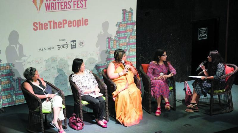 This is the third edition of the fest in Mumbai and Kiran feels it's the informal vibe that makes women comfortable about discussing various issues at this fest.