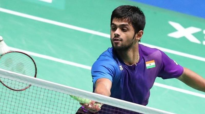 Indian shuttler B Sai Praneeth was knocked out of the Fuzhou China Open after facing a defeat against Denmark's Anders Antonsen 20-22, 22-20, 16-21 in the second-round match here on Thursday. (Photo:PTI)