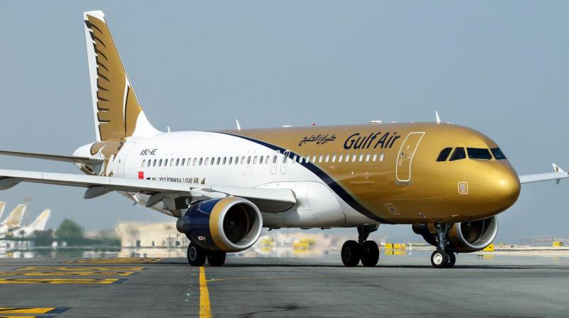 Bahraini citizens and residency visa holders are not subject to the suspension but will have to present an approved PCR test certificate conducted no more than 48 hours prior to boarding . (Twitter/@GulfAir)