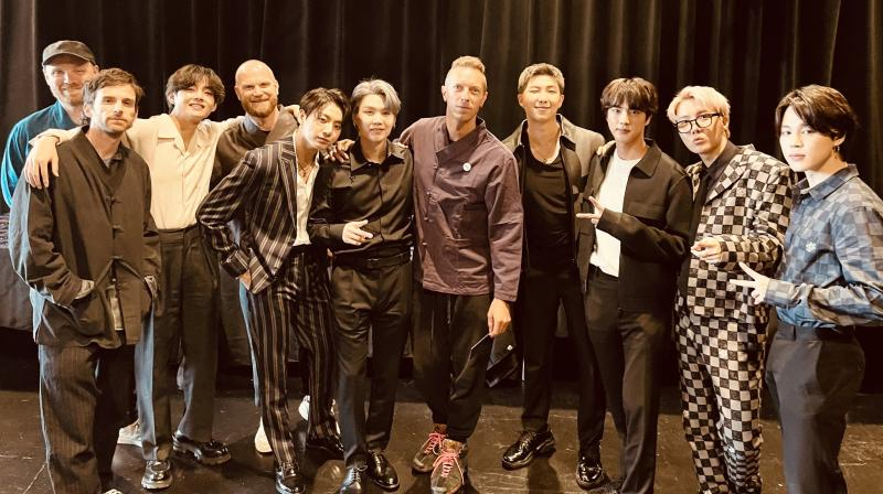 While Coldplay shared the news on Instagram, Big Hit, the label behind BTS, shared the news on their Twitter handle. (Photo: Twitter/ @coldplay)