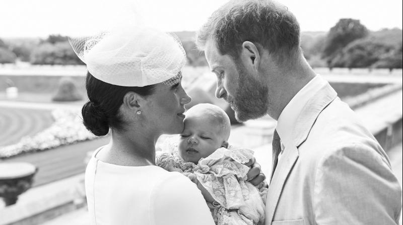 Archie's christening photos were released by the Sussexes on their pfficial Instagram account. (Photo: AP)
