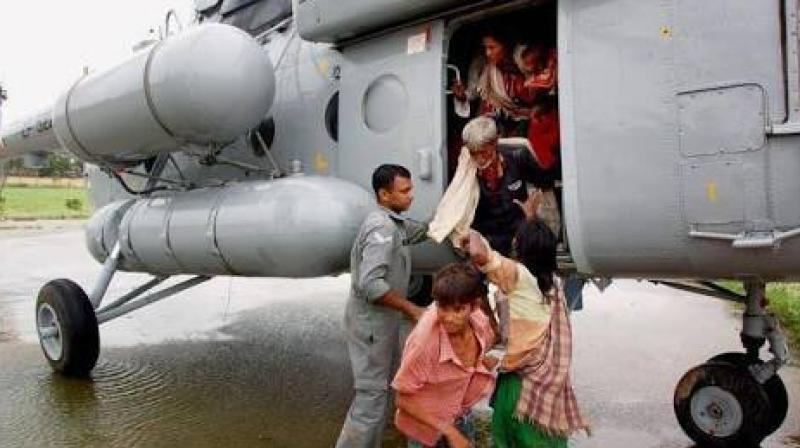 The rescue mission started at 4:30 am and was over in an hour. A total of 19 people stranded on the island were airlifted by the IAF helicopters. (Photo: Twitter | @PemaKhanduBJP)