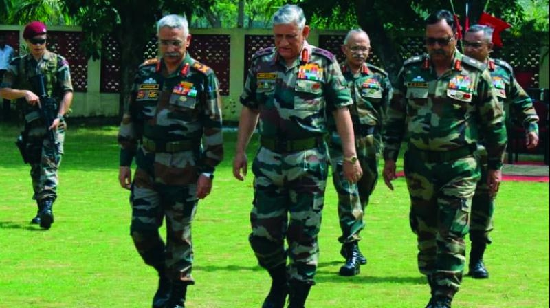 General Bipin Rawat visits Brahmastra Corps to review operational preparedness at Panagarh. (Photo: Asian Age)