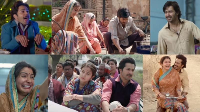 Screengrabs from the trailer of 'Sui Dhaaga: Made in India.'