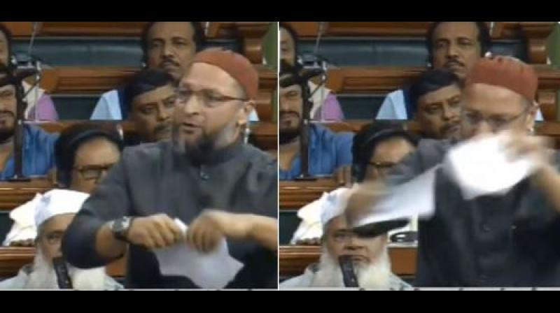 ''This is an insult to India's freedom fighters,'' Owaisi retorted, accusing the BJP-led government of working to marginalize Muslims in the country. (Photo: Twitter   ANI)