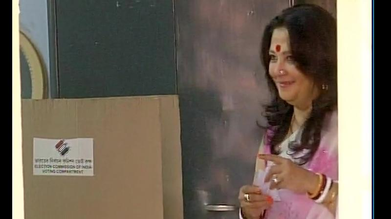 Moon Moon Sen suggested that violence in Bengal has reduced from the days of Communist Party of India (M) rule suggesting that political clashes take place across India and not just in Bengal. (Photo: ANI)