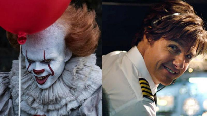 Stills from 'It' and 'American Made.'
