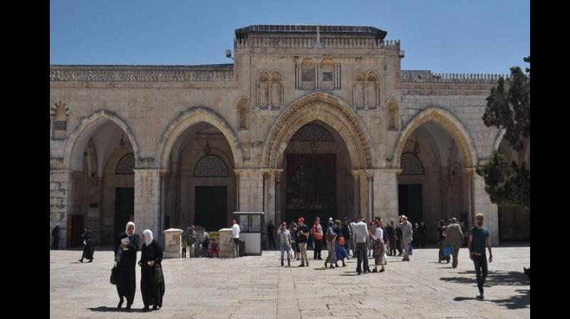 Jordan supervises the Al-Aqsa Mosque, located in the Old City of Jerusalem, and is considered to be the third holiest site in Islam. The mosque was built on top of the Temple Mount, known as Haram esh-Sharif in Islam. (Photo: ANI)