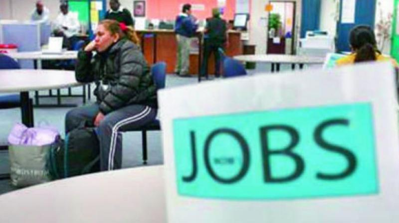 In rural areas, the unemployment rate increased to 7.37 per cent in February from 5.97 per cent in the previous month.