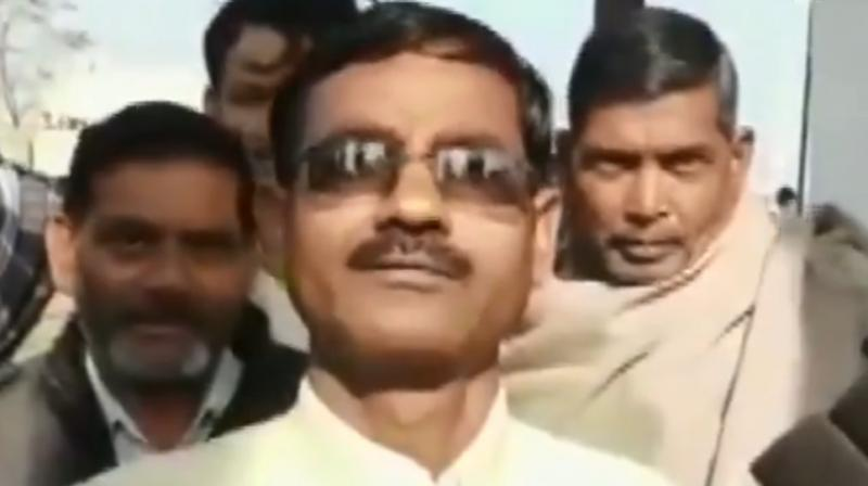 BJP MLA Vikram Saini opined that government should give him a ministry to bomb the 'unsafe' people, warning that no one would be spared. (Photo: ANI Screengrab)