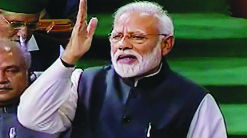 In poll pitch from LS, PM slams anti-BJP front, mocks Rahul
