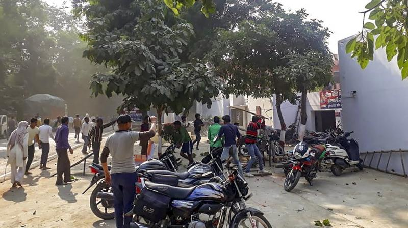 A case was filed over cow slaughter allegations which sparked the violence that led to the murder of a police officer and a local youth in Uttar Pradesh's Bulandhshar. (Photo: PTI)