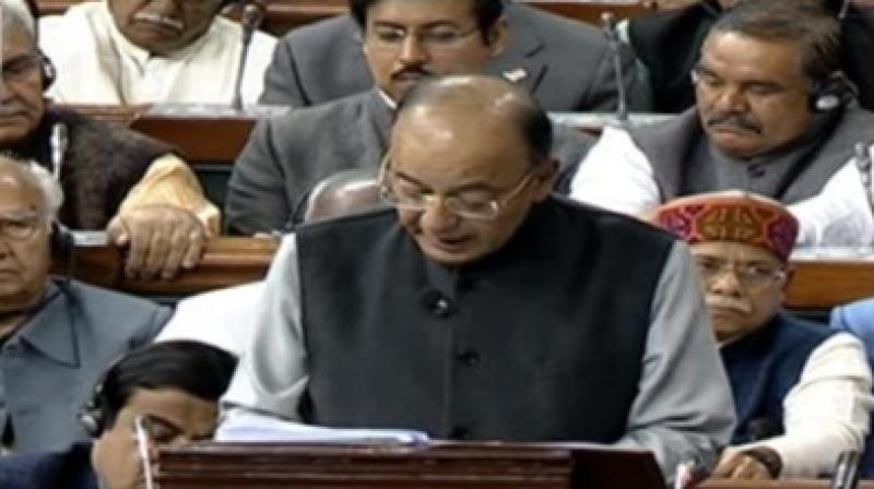 Union Finance Minister Arun Jaitley presents the Union Budget 2018-19 in the Lok Sabha, in New Delhi on Thursday. (Photo: Twitter | ANI)