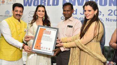 The Government of India has committed to organising and promoting the World Environment Day celebrations through a series of engaging activities and events generating strong public interest and participation. L-R Gaurav Grover, Dia Mirza, Udit Raj and Palka Grover