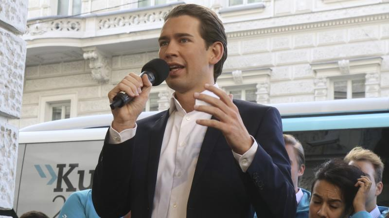 The People's Party (OeVP) led by 33-year-old Sebastian Kurz is predicted to win around 33 pc, up slightly from the last elections two years ago but not enough to form a majority government.. (Photo: File | AP)