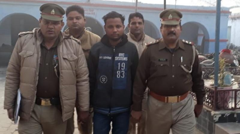 Bajrang Dal leader Yogesh Raj, who is the main accused in the Bulandshahr mob violence in which a police officer was killed last month, was arrested on Thursday. (Photo: Twitter | ANI)