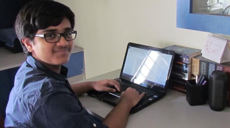 Young author Subhashish Dey