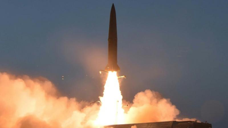 North Korea Saturday fired two 'unidentified projectiles' into the sea off its eastern coast, South Korea's military said, the latest in a series of launches by Pyongyang. (Representational Image)