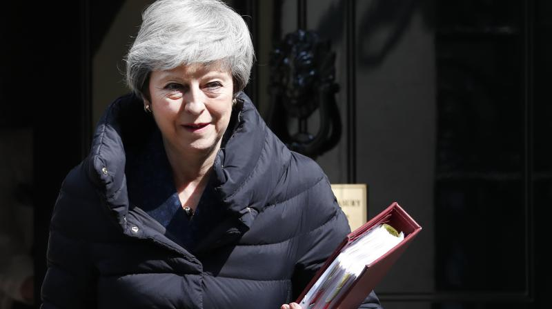 The Telegraph said a source in May's office denied there had been a meeting to discuss a second EU referendum. (Photo:AP)