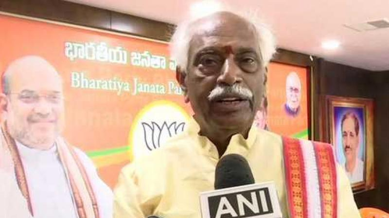'Recent investigations of NIA reveal that Hyderabad is a safe haven for Islamic terrorist activities. A large number of people are being recruited in Hyderabad,' said Dattatreya. (Photo: ANI)