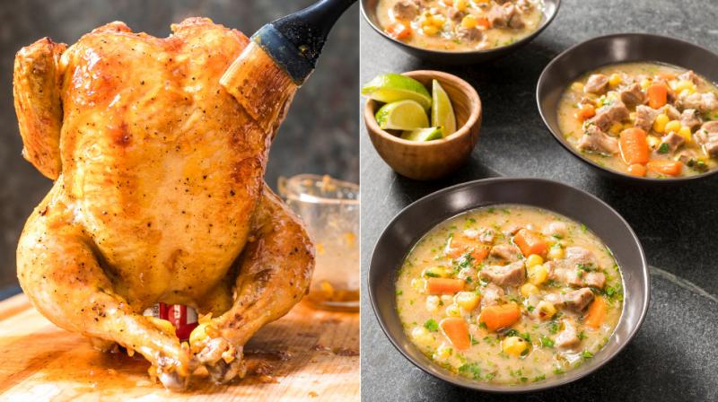 From glazed roast chicken, to chocolate sheet cake and brussel sprouts here are food shots (and recipes) to tantalise you. (Photos: AP)