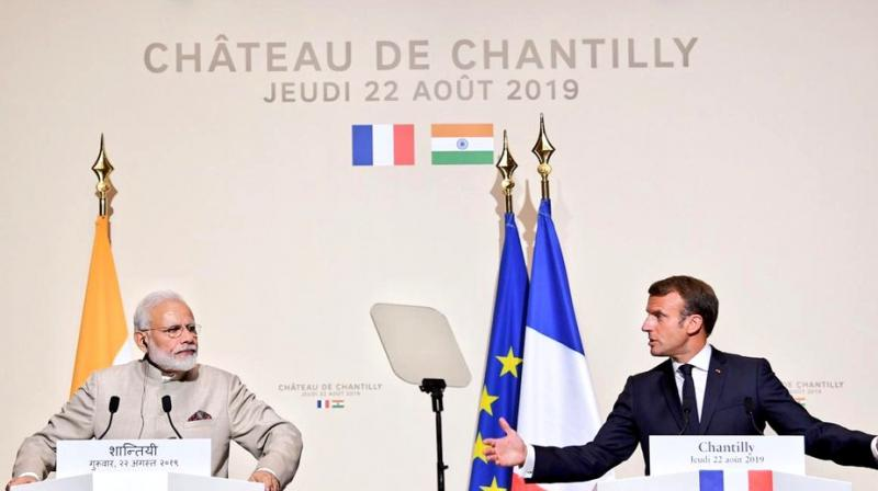The two leaders reviewed the entire gamut of the dynamic and multi-faceted bilateral relationship during their more than 90-minute long one-on-one meeting at Chateau de Chantilly. (Photo: MEA | Twitter)