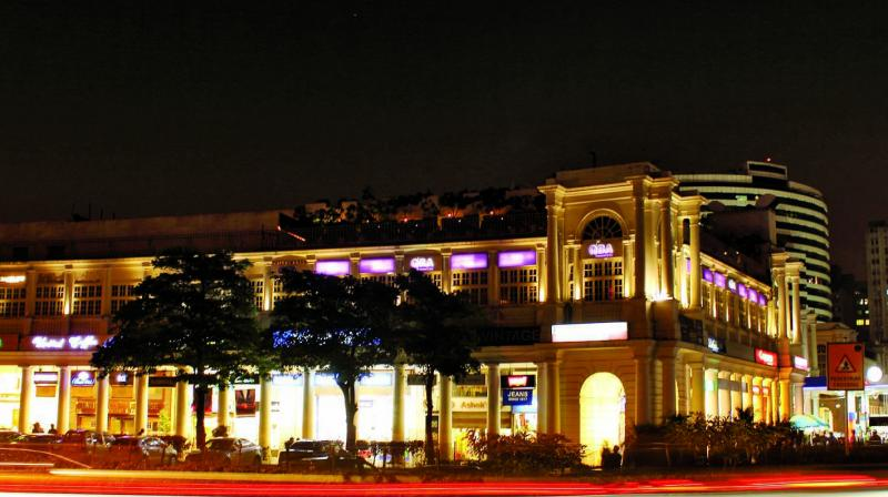 Night view of Connaught Place, New Delhi