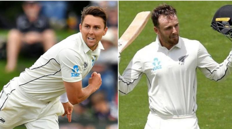 New Zealand made two changes Wednesday for the Boxing Day Test against Australia with fast bowler Trent Boult back from injury and Tom Blundell replacing Jeet Ravel at the top of the order. (Photo:AFP)