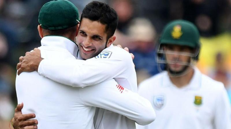 Ahead of the first Test against England, South Africa's Keshav Maharaj said that the South African side has a fine balance of young and experienced talent. (Photo:AFP)