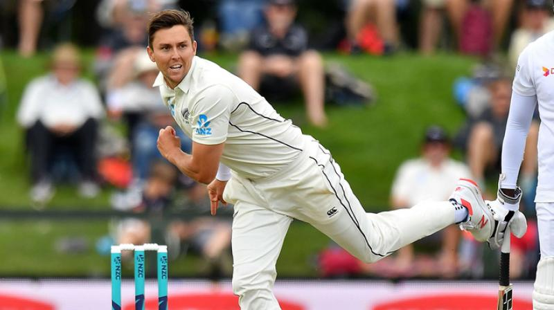 New Zealand skipper Kane Williamson on Wednesday confirmed that pacer Trent Boult will indeed be playing the upcoming second Test against Australia. (Photo:AFP)