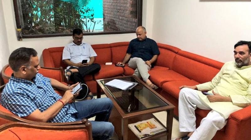 The L-G's office slammed Kejriwal's sit-in, saying it was one more 'dharna without reason'. (Photo: Twitter/@ArvindKejriwal)