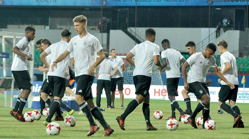 Germany advanced as the second best team in Group C, involving Iran, Guinea and Costa Rica at the Fifa U-17 World Cup. (Photo: Sunoj Ninan Mathew)