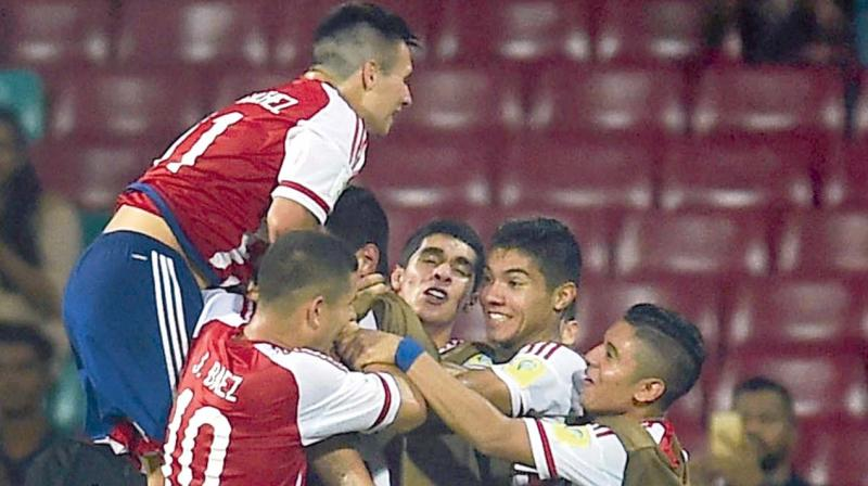 Unbeaten Paraguay scored ten goals to qualify as Group B toppers. (Photo: PTI)