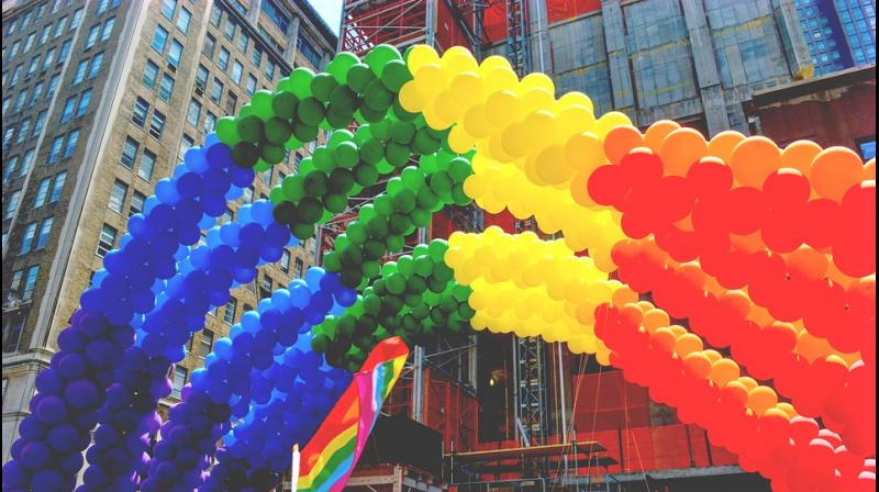 Onlookers cheered from apartment balconies along the parade route, much of which was lined with balloons, flags and signs supporting the LGBT community. (Photo: Representational/Pixabay)