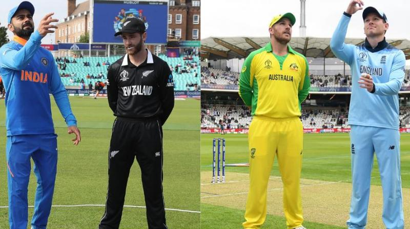 The semi-finals of the tournament will be played between India-New Zealand and Australia-England. (Photo: Cricket World Cup/Twitter)