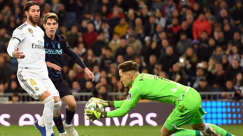 Real Madrid overcame an early howler from Sergio Ramos to beat Real Sociedad 3-1 at home on an eventful Saturday at the Santiago Bernabeu, where Gareth Bale was loudly booed by his own supporters and Luka Modric returned to his very best form. (Photo:AFP)