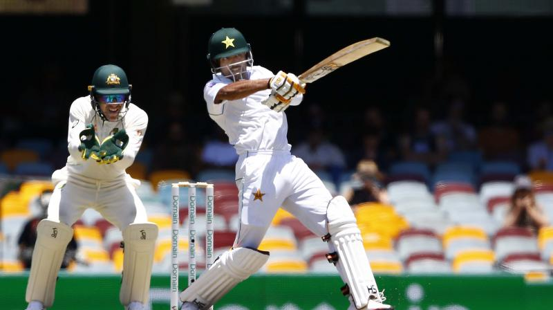 Australia were closing in on victory Sunday in the first Test against Pakistan despite some stern resistance from Babar Azam, who scored a century, and Mohammad Rizwan in Brisbane. (Photo:AP/PTI)