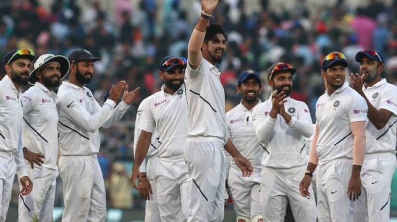 An untested pink ball was not able to reduce the glaring gulf between the two teams as India bulldozed Bangladesh by an innings and 46 runs in their first ever day-night Test to record a 12th home series win in a row. (Photo:BCCI)