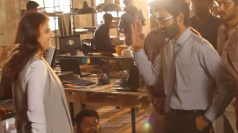 Screengrabs from the making video of 'VIP 2.'