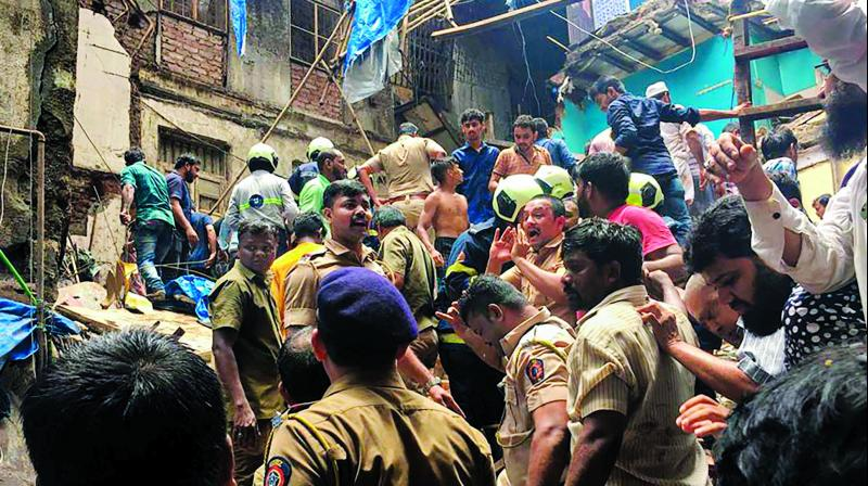 As per reports and eyewitness accounts, most of the buildings in the area are in a dilapidated condition. Further, the lanes are too narrow for the smooth conduct of relief and rescue operations.