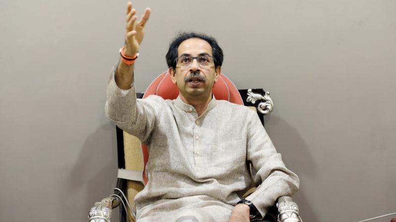 Uddhav Thackeray at Matoshree. (Photo: Rajesh Jadhav)