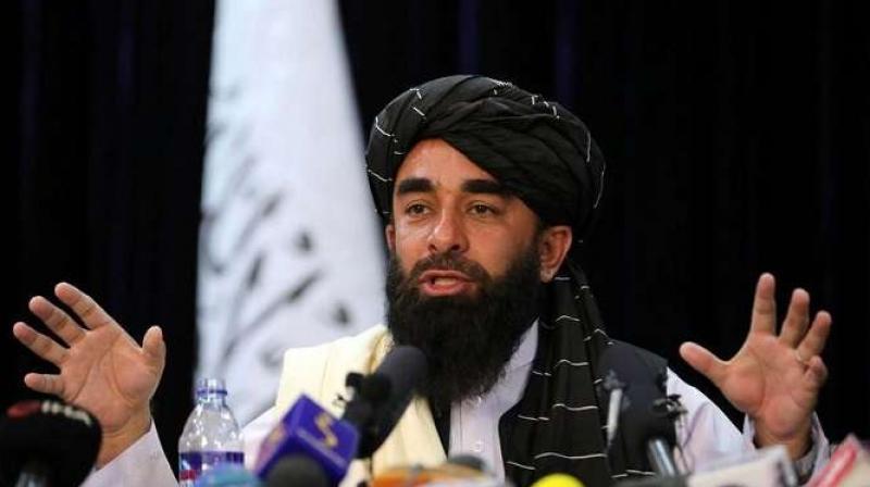 Taliban spokesperson Zabihullah Mujahid (AP)