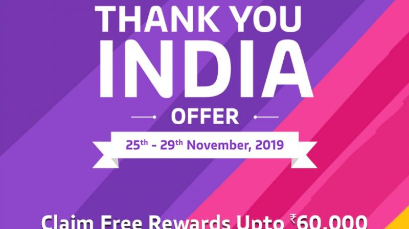 Starting from November 25th till 29th, 2019, vivo users can avail free special rewards in the form of coupons and subscriptions.