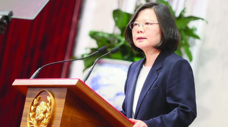 Taiwan's President Tsai Ing-wen addresses the nation on New Year's even on Saturday. (Photo: AFP)