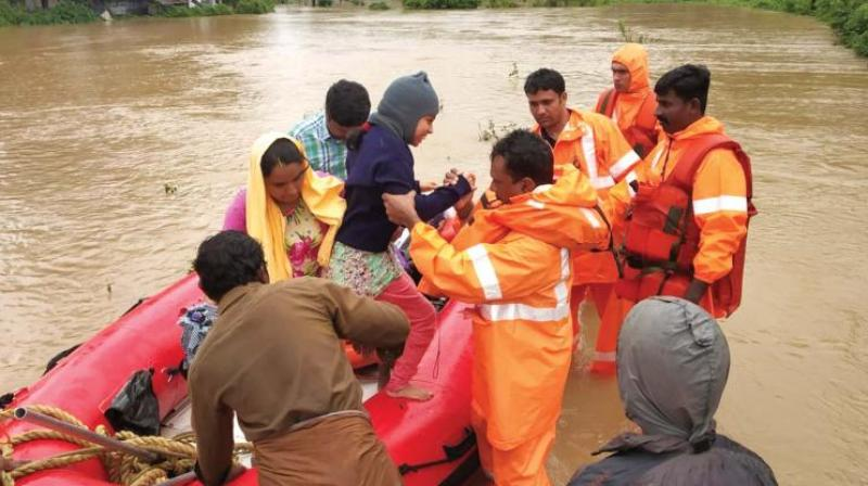 Pathanamthitta, a central Kerala district which has been receiving very heavy rains since last night is put on high vigil, authorities said Wednesday. (Photo: File)
