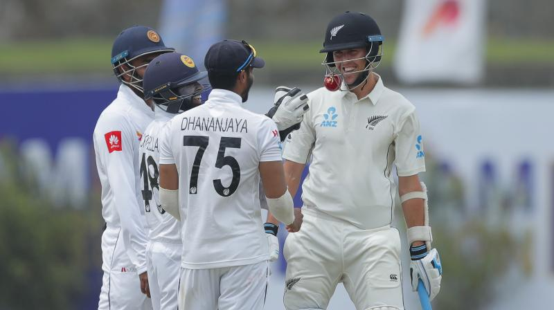 What made this incident hilarious is that after it had taken place, Boult tried to run away from the Sri Lankan fielders as they circled him and tried to get the ball. (Photo: AP)