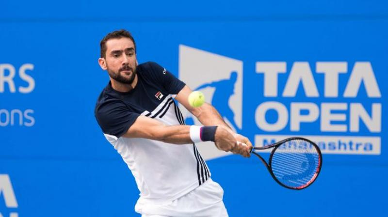 Inspite of winning the first set 6-1, Cilic continued to struggle in the second and third set against Gilles Simon who forced him to make unforced errors throughout the match.